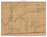 Pineville, Missouri 1884 Old Town Map Custom Print McDonald Co.