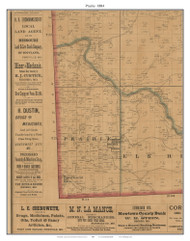 Prairie - Saratoga Springs - South West City, Missouri 1884 Old Town Map Custom Print McDonald Co.