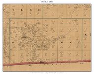 White Rock - Sulpher - Gaverna, Missouri 1884 Old Town Map Custom Print McDonald Co.