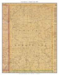 Township No. 1 - Heaths Creek, Missouri 1876 Old Town Map Custom Print Pettis Co.