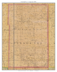 Township No. 2 - Longwood - Thornleigh, Missouri 1876 Old Town Map Custom Print Pettis Co.