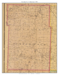 Township No. 4 - Blackwater, Missouri 1876 Old Town Map Custom Print Pettis Co.