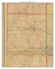 Township No. 5 - La Monte, Missouri 1876 Old Town Map Custom Print Pettis Co.
