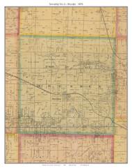 Township No. 6 - Dresden, Missouri 1876 Old Town Map Custom Print Pettis Co.
