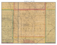 Township No. 7 - Cedar -Georgetown, Missouri 1876 Old Town Map Custom Print Pettis Co.