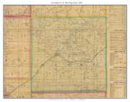 Township No. 8 - Bowling Green - Beaman, Missouri 1876 Old Town Map Custom Print Pettis Co.