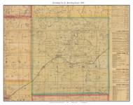Township No. 8 - Bowling Green - Beaman, Missouri 1876 Old Town Map Custom Print Pettis Co.