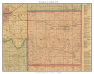 Township No. 9 - Smithton, Missouri 1876 Old Town Map Custom Print Pettis Co.