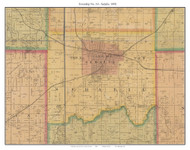 Township No. 10 - Sedalia, Missouri 1876 Old Town Map Custom Print Pettis Co.