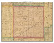 Township No. 11 - Prairie, Missouri 1876 Old Town Map Custom Print Pettis Co.