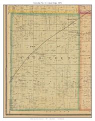 Township No. 13 - Green Ridge, Missouri 1876 Old Town Map Custom Print Pettis Co.