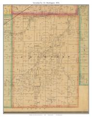 Township No. 14 - Washington - Ionia, Missouri 1876 Old Town Map Custom Print Pettis Co.