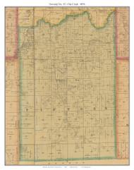 Township No. 15 - Flat Creek, Missouri 1876 Old Town Map Custom Print Pettis Co.