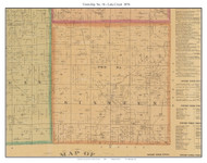 Township No. 16 - Lake Creek, Missouri 1876 Old Town Map Custom Print Pettis Co.