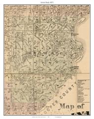 Arrow Rock - Saline City - Newson, Missouri 1871 Old Town Map Custom Print Saline Co.
