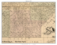 Blackwater - Salt Fork, Missouri 1871 Old Town Map Custom Print Saline Co.