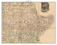 Cambridge - Slater - Gilliam, Missouri 1871 Old Town Map Custom Print Saline Co.