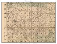 Elmwood -  Blackburn - Mt. Leonard, Missouri 1871 Old Town Map Custom Print Saline Co.
