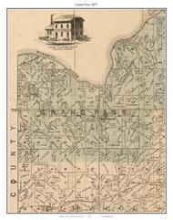 Grand Pass - Malta Bend, Missouri 1871 Old Town Map Custom Print Saline Co.