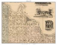 Jefferson - Frankfurt, Missouri 1871 Old Town Map Custom Print Saline Co.