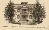 Sappington Residence, Arrow Rock, Missouri 1871 Old Town Map Custom Print Saline Co.