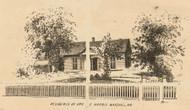 Harris Residence, Marshall, Missouri 1871 Old Town Map Custom Print Saline Co.