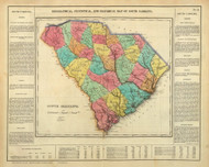 South Carolina 1822 Carey - Old State Map Reprint