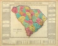 South Carolina 1822 Carey - Old State Map Reprint