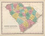 South Carolina 1827 Finley - Old State Map Reprint