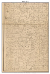 Benton - Jerico Springs, Missouri 1879 Old Town Map Custom Print Cedar Co.