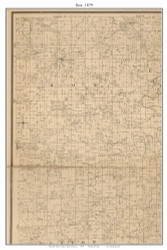 Box - El Dorado Springs - Clintonville - Centerville - Virgil City, Missouri 1879 Old Town Map Custom Print Cedar Co.