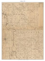 Jefferson, Missouri 1879 Old Town Map Custom Print Cedar Co.