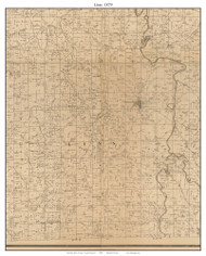 Linn - Stockton - White Hare - Umber View Heights, Missouri 1879 Old Town Map Custom Print Cedar Co.