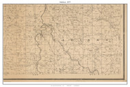 Madison - Paynterville - Cane Hill - Stockton Reservoir, Missouri 1879 Old Town Map Custom Print Cedar Co.