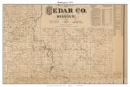 Washington - Sacville, Missouri 1879 Old Town Map Custom Print Cedar Co.
