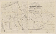 Erie Canal -- Water Supply for Middle Section 1875 - Old Map Reprint - NY Regionals - Canals