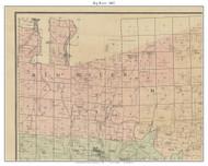 Big River, Missouri 1882 Old Town Map Custom Print St. Francois Co.