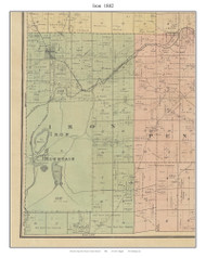 Iron - Bismarck - Iron Mountain, Missouri 1882 Old Town Map Custom Print St. Francois Co.