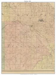 Pendleton, Missouri 1882 Old Town Map Custom Print St. Francois Co.