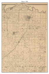 Bacon - Schell City, Missouri 1886 Old Town Map Custom Print Vernon Co.