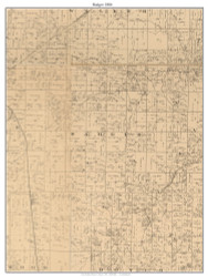 Badger, Missouri 1886 Old Town Map Custom Print Vernon Co.