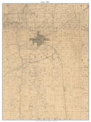 Center - Nevada City, Missouri 1886 Old Town Map Custom Print Vernon Co.