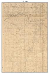 Coal, Missouri 1886 Old Town Map Custom Print Vernon Co.