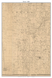 Dover - Bellamy City, Missouri 1886 Old Town Map Custom Print Vernon Co.
