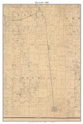 Drywood - Sheldon, Missouri 1886 Old Town Map Custom Print Vernon Co.