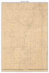 Harrison, Missouri 1886 Old Town Map Custom Print Vernon Co.