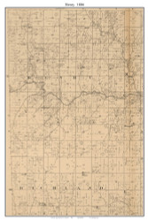 Henry, Missouri 1886 Old Town Map Custom Print Vernon Co.