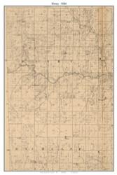 Henry, Missouri 1886 Old Town Map Custom Print Vernon Co.