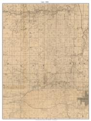 Lake, Missouri 1886 Old Town Map Custom Print Vernon Co.