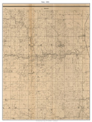 Metz, Missouri 1886 Old Town Map Custom Print Vernon Co.